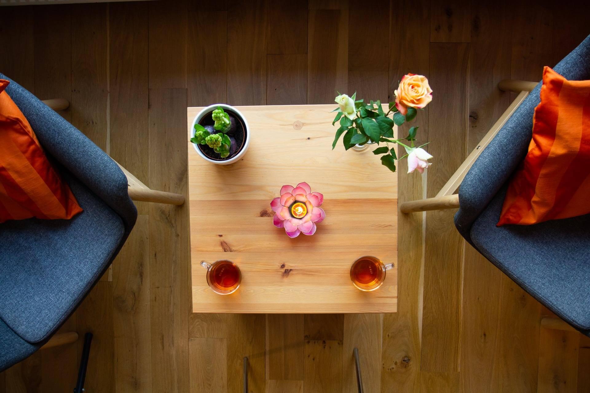Mindfulness Groningen tafel kaars